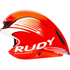 Rudy Project Wing57 Casco, red fluo / white (shiny)